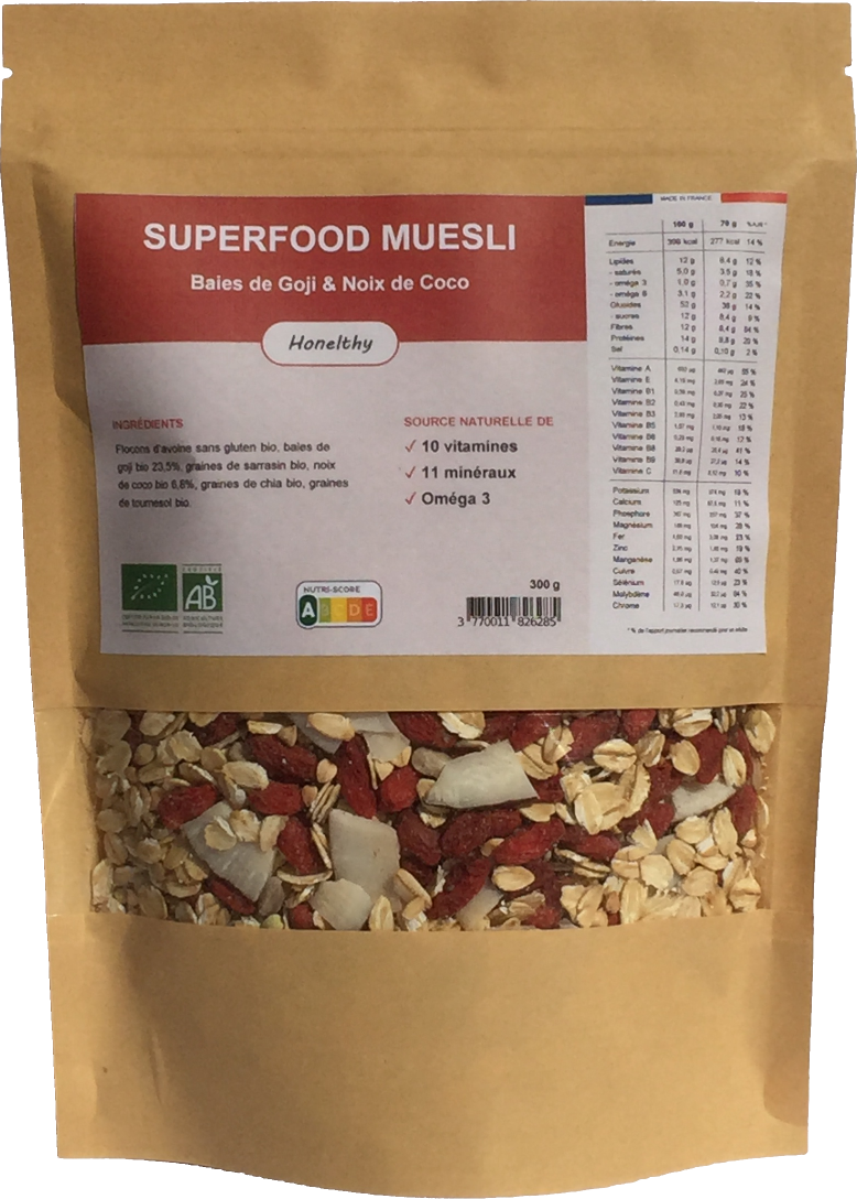 Superfood Muesli Baies de Goji et Noix de Coco